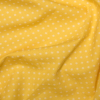 <!--1062-->Rose &amp; Hubble - 3mm Polka Dot in Lemon, per fat quarter