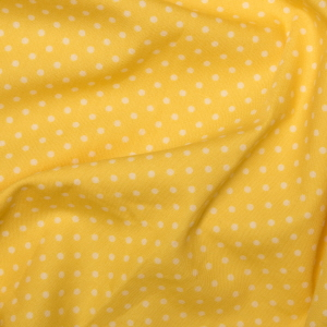 Rose & Hubble - 3mm Polka Dot in Lemon, per fat quarter