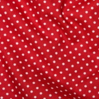 <!--1064-->Rose &amp; Hubble - 3mm Polka Dot in Red, per fat quarter