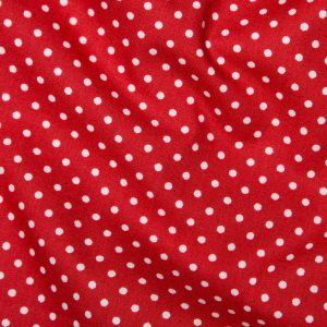 Rose & Hubble - 3mm Polka Dot in Red, per fat quarter