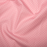 <!--1053-->Rose & Hubble - 3mm Polka Dot in Mid Pink, per fat quarter