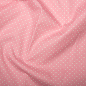 Rose & Hubble - 3mm Polka Dot in Mid Pink, per fat quarter