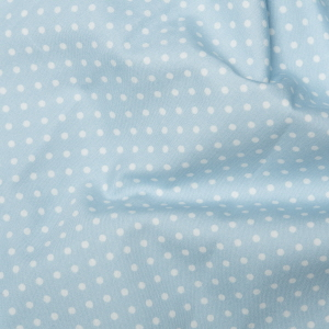 Rose & Hubble - 3mm Polka Dot in Powder Blue, per fat quarter