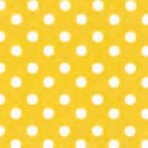 PVC Coated - Polka Dot in Yellow, per quarter (50cm x 70cm) ***WAS £1.00***