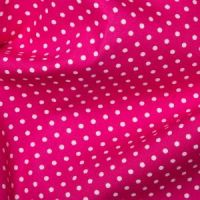 <!--1207-->Rose & Hubble - 3mm Polka Dot in Cerise, per fat quarter
