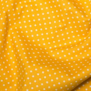 Rose & Hubble - 3mm Polka Dot in Yellow, per fat quarter