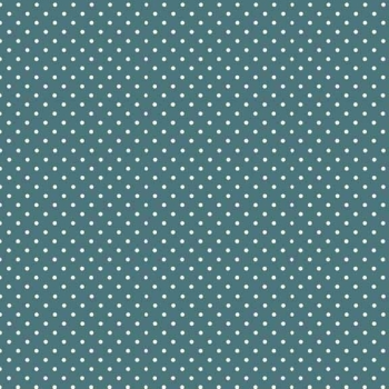 Makower UK - Polka Dot in Dark Teal 830/T7, per fat quarter
