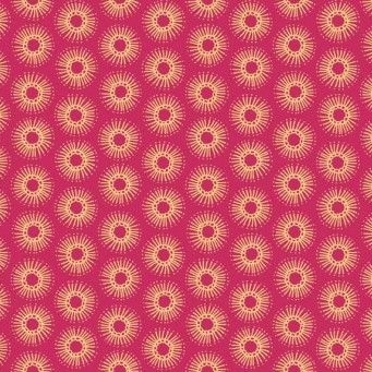 Makower UK - Radiance Doodle Burst in Plum , per fat quarter ***Was £2.25***