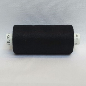 1 x 1000yrd Mixed Coats Moon Thread - Black
