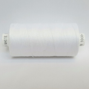 1 x 1000yrd Coats Moon Thread - White