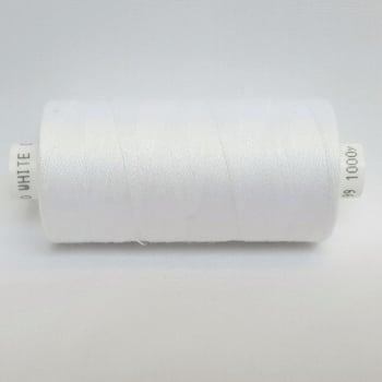 1 x 1000yrd Mixed Coats Moon Thread - White