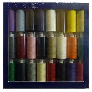 Box of 24 x 1000yrd Mixed Coats Moon Threads - Dark Selection