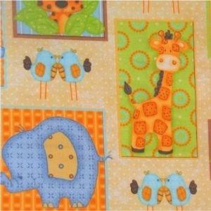 The Craft Cotton Company - Jungle Animals, per fat quarter