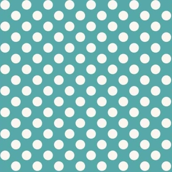 Makower UK - 11mm Spot in Teal T4, per fat quarter