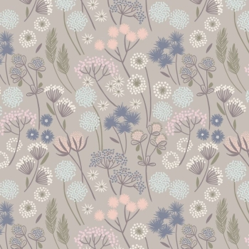 Lewis & Irene - Make Another Wish Hedgerow Flowers On Natural, per fat quarter  ***Was £2.70***