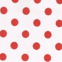Rose & Hubble - 8mm Polka Dot Red on White, per fat quarter ***WAS £1.15***