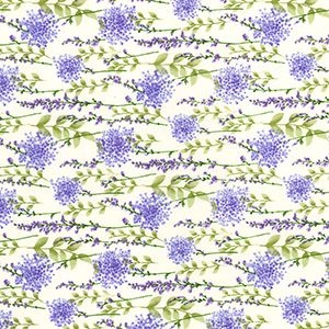 Rose & Hubble - Floral Spray in Ivory, per fat quarter