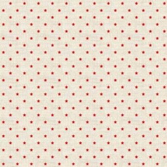 Makower UK - Scandi 3 Mini Stars in Red, per fat quarter  ***Was £2.25***