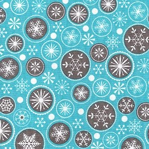 Snowflake Bubbles on Blue, per quarter (50cm x 67cm)  ***Was £1.40***