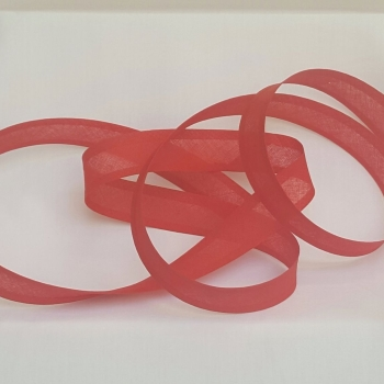 25mm Bias Binding - Scarlet, per metre