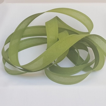 25mm Bias Binding - Olive, per metre