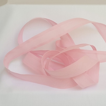 25mm Bias Binding - Baby Pink, per metre