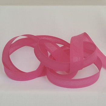 25mm Bias Binding - Bright Pink, per metre