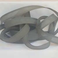 <!-- 003 --> 25mm Bias Binding - Silver Grey, per metre