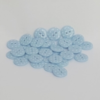 <!-- 052 --> Plastic Polka Dot Buttons - Blue, per button - available in 2 sizes