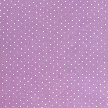 Wool Blend Felt - Polka Dot in Lilac, per sheet - Available in 2 sizes