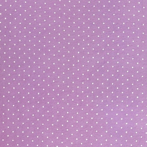 <!--552-->Wool Blend Felt - Polka Dot in Lilac, per sheet - Available in 2