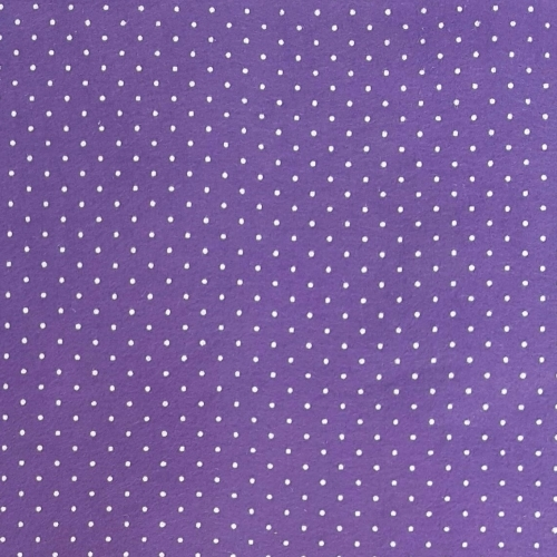 <!--553-->Wool Blend Felt - Polka Dot in Lavender, per sheet - Available in