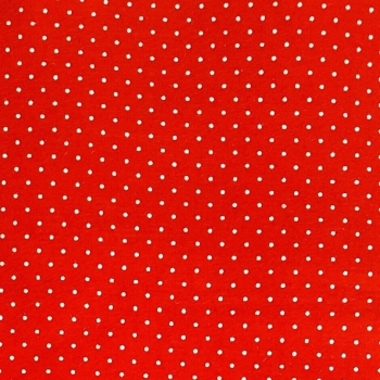 Wool Blend Felt - Polka Dot in Oriental Red, per sheet - Available in 2 sizes