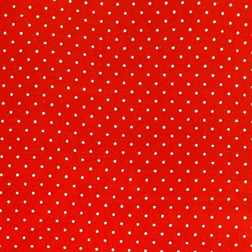<!--558-->Wool Blend Felt - Polka Dot in Oriental Red, per sheet - Availabl