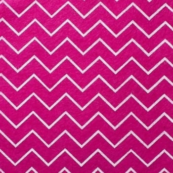 Wool Blend Felt - Chevron in Deep Fuchsia Pink, per sheet - Available in 2 sizes  ***Was £0.40***