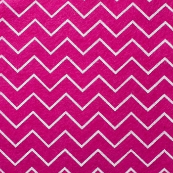 Wool Blend Felt - Chevron in Deep Fuchsia Pink, per sheet - Available in 2 sizes