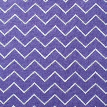 Wool Blend Felt - Chevron in Lavender, per sheet - Available in 2 sizes  ***WAS £0.40***
