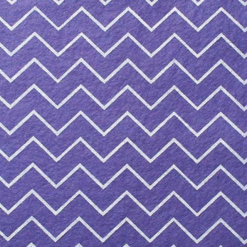 <!--571-->Wool Blend Felt - Chevron in Lavender, per sheet - Available in 2