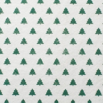 Wool Blend Felt -Green Christmas Trees, per sheet - Available in 2 sizes  ***WAS £0.40***