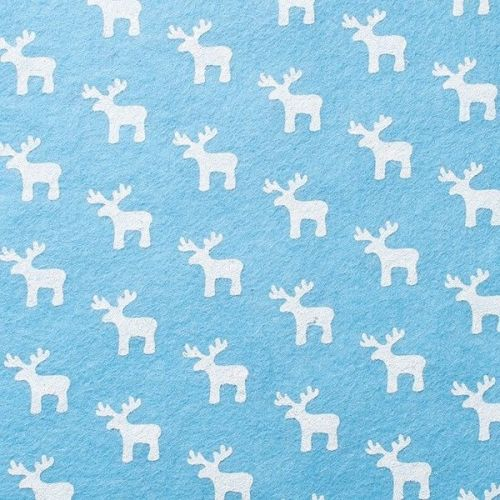 <!--581-->Wool Blend Felt - White Reindeer, per sheet - Available in 2 size