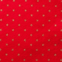 <!--0585-->Wool Blend Felt - Stars - Oriental Red, per sheet - Available in 2 sizes  ***WAS &pound;0.40***
