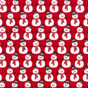 Rose & Hubble - Snowmen On Red, per quarter (50cm x 67cm)