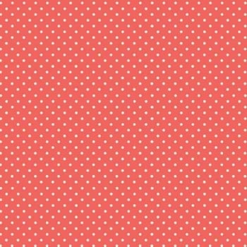 Makower UK - Polka Dot in Coral 830/N4, per fat quarter ***WAS £2.40***