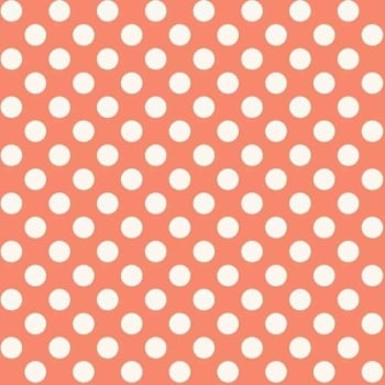 Makower UK - 11mm Spot in Coral R3, per fat quarter ***WAS £2.40***