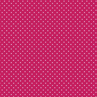 Makower UK - Polka Dot in Raspberry 830/P68, per fat quarter  ***WAS £2.40***