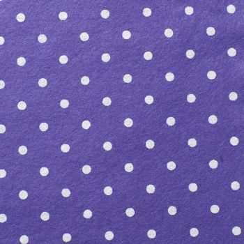 Wool Blend Felt - Large Polka Dot in Lavender, per sheet - Available in 2 sizes  ***WAS £0.25***
