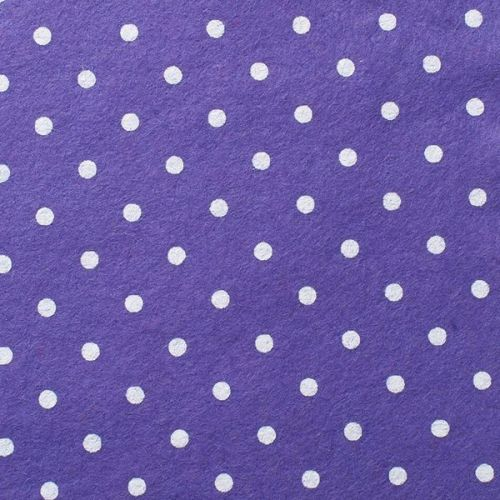<!--0561-->Wool Blend Felt - Large Polka Dot in Lavender, per sheet - Avail