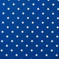 <!--0562-->Wool Blend Felt - Large Polka Dot in Trafalgar, per sheet - Available in 2 sizes  ***WAS &pound;0.25***