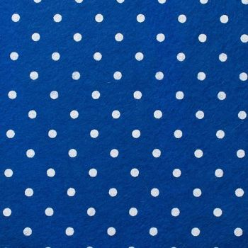 Wool Blend Felt - Large Polka Dot in Trafalgar, per sheet - Available in 2 sizes  ***WAS £0.25***