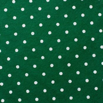 Wool Blend Felt - Large Polka Dot in Holly, per sheet - Available in 2 sizes  ***WAS £0.25***